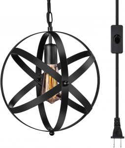 Industrial Plug-in Pendant Light