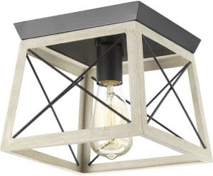 Briarwood Collection Whitewashed One-Light Farmhouse Flush Mount Ceiling Light Review