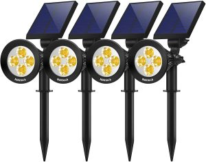 Nekteck 4 Pack Solar Landscape Lighting Kits