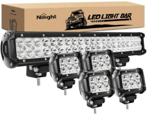 Nilight – ZH003 126W Flood Combo LED Lights for Agricultural Tractors