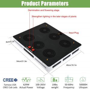 Product Parameters of Phlizon 3000W LED Grow Light