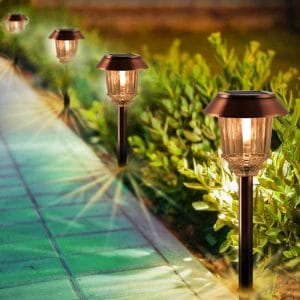 XMCOSY+ 4 Pack Outdoor Solar Pathway Lights Review